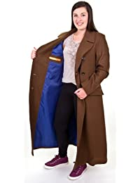 Official 10th Tenth Doctor Dr Who David Tennant Ladies Replica Coat