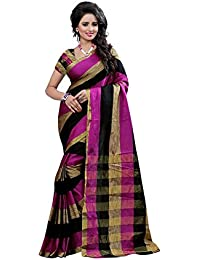 Vastrang Women's Cotton Silk Saree With Blouse Piece(12PWN_Wine_Free Size)