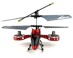 Z008 Mini / Micro 4ch RC Remote Control Helicopter RTF with Gyro and USB In Red