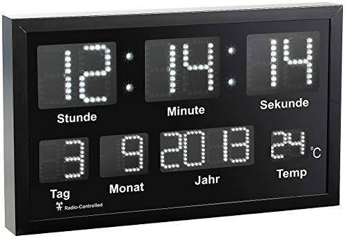 Sinnvoll Dcf Funk-wanduhr Funk-uhr Bad-uhr Badezimmer-uhr Digital Thermometer Display Haushaltsgeräte