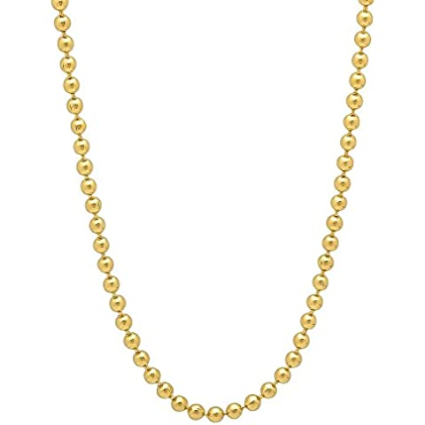 2 mm, in oro 14 k con catenina placcata - Overlay Dog Tag