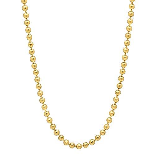 2 mm, in oro 14 k con catenina placcata, Placcato oro, colore: oro, cod. GL-069B-22 - Overlay Dog Tag