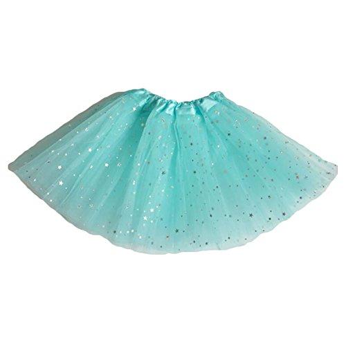 Yying Falda Baile Chicas Mini Faldas - Falda Tul Tutú Faldas Cortas Ballet Vestir Lentejuelas Princesa Azul - Vestir Faldas De