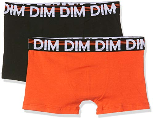 Dim 6p67210-ra 2 Boxers Bañador, Naranja Citrouille 39, 10 años Talla del Fabricante: 10A Pack...
