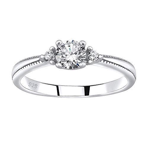 SILVEGO Verlobungsring aus 925 Sterling Silber MELAYNA mit Swarovski® Zirkonia