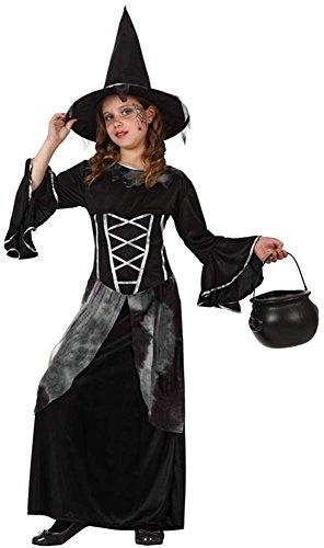 Atosa 8422259103080 - Verkleidung Hexe Mädchen, Größe: (Sorciere Kostüm Fille)