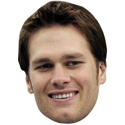 Tom Brady Maske aus Pappe
