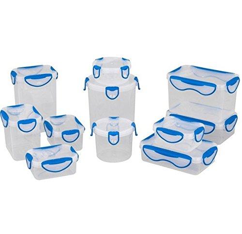 Clip Fresh Frischhaltedosen aus Kunststoff (10Stück) mit Modular stapelbar System (Storage System Glass)