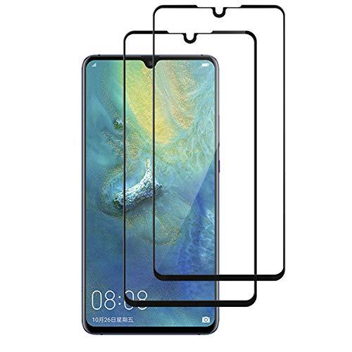 QDADZD Panzerglas für Huawei Mate 20 X [2 Stück], 9H Panzerglasfolie, Ultra-klar Vollständige Abdeckung, Blasenfrei Bildschirmschutzfolie Gehärtetem Glass für Huawei Mate 20 X (7,2 Zoll)(Schwarz)