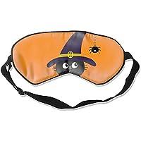 Schlafmaske Happy Halloween schwarze Katzenaugenabdeckung, weich und bequem, Augenbinde für vollständige Verdunkelung... preisvergleich bei billige-tabletten.eu