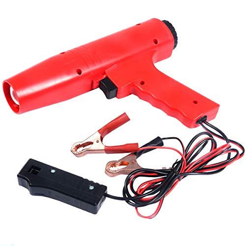 COSTWAY Zündlichtpistole Blitzpistole Zündeinstelllampe Stroboskoplampe Zündung 12V, Zündzeitpunkt 8000r/min