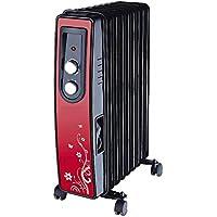 Radiatore ad olio per riscaldamento elettrico, con timer, riscaldamento mobile, 200 Watt, timer 24 ore