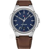 Tommy Hilfiger Princeton Men's Blue Dial Leather Watch - 1791645
