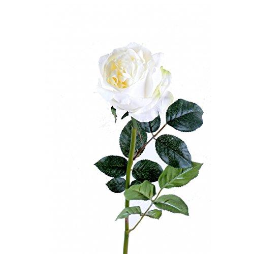fleur coupee synthetique rose anglaise - h : 80