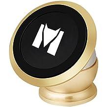 Soporte Movil Coche Monstercube Soporte Base para movil magnético coche Universal para Teléfonos Móviles iPhone Samsung Galaxy Notes Motorola Huawei Xiaomi, GPS, Color Oro