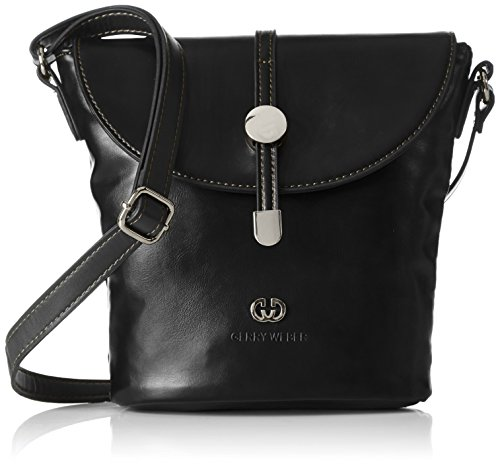 Gerry Weber Take Time Flap Bag V, M 4080003507 Damen Clutches 17x22x10 cm (B x H x T), Schwarz (900) (Bag Flap Klassische Handtasche)