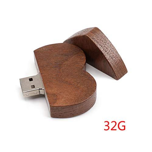 Fogun 16/32/gb pen drive usb 2.0flash drive pendrive memory stick/legno cuore regalo