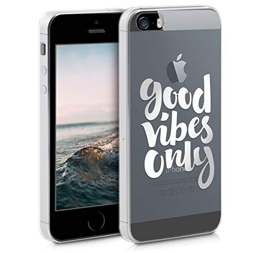 kwmobile Apple iPhone SE / 5 / 5S Hülle - Handyhülle für Apple iPhone SE / 5 / 5S - Handy Case in Silber Transparent