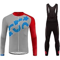 Future Sports UGLYFROG Mens Invierno Térmica Viento Bicicleta Ciclo Ciclismo Mallas Bib Pantalones Acolchado Mangas Largas Chaqueta Jersey Conjuntos