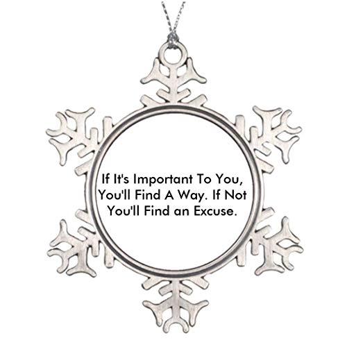 Monsety Inspirierendes Zitat Weihnachten Weihnachten Schneeflocke Ornament 2018 Lustiger Weihnachtsbaum Zweig Dekoration Andenken -