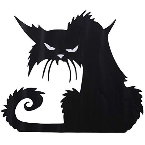ufkleber Halloween Stil Schwarze Katze Muster Aufkleber für Wohnzimmer Schlafzimmer Romantische Fee Muster Wandtattoo Wohnkultur Wandkunst ()