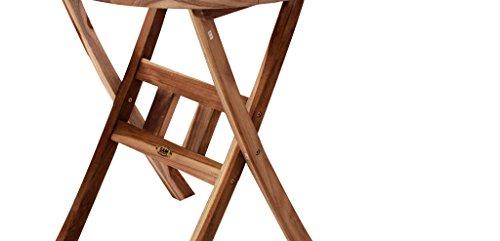 SAM® SAM® Teak-Holz Balkontisch, Gartentisch, 70 cm Durchmesser, zusammenklappbarer Tisch aus Massivholz, leicht zu verstauen, ideal für Ihren Garten [521426]