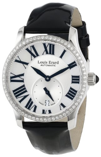 Louis Erard Women's 92602SE01.BDV10 Emotion Automatic Silver Sunray Dial Diamond Watch
