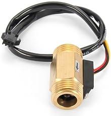 Generic G1/2 Copper Hall Effect Liquid Water Flow Sensor Flowmeter Meter