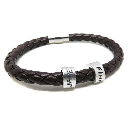 brown-mens-leather-childens-name-bracelet