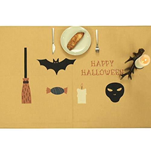 HLCE Halloween Tischdecke Tischdecke Abdeckung Party Kamin Tür Fenster Halloween Dekoration Requisiten (Muster : A) (Halloween Disfraz Payaso)