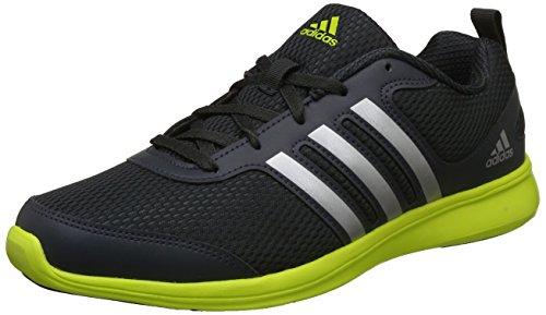 Adidas Men's Dark Grey and Yellow Running Shoes - 7 UK/India (40.67 EU)(BI2799)