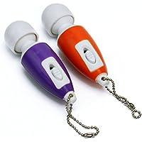 2X Mini Masajeador Vibrador Eléctrico Relajación Cuerpo Muscular Llavero