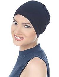 Deresina Gorro básico de algodón, Unisex, oncológico, para quimio y pérdida de Cabello