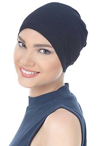Deresina Unisex Kappe Aus Baumwolle Fur Haarverlust, Chemotherapie (Schwarz - One Size)