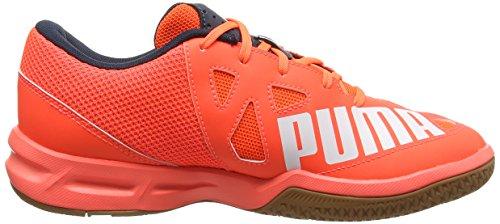 Puma  evoSPEED Indoor 5.4, Chaussures Multisport Indoor adulte mixte Orange (Lava Blast/White/Total Eclipse)