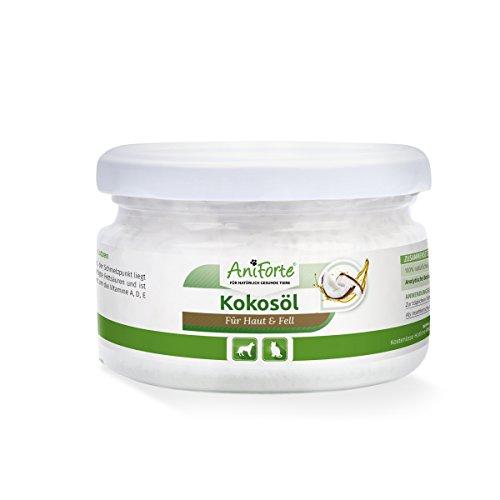 AniForte Kokosöl aus kontrolliertem Anbau 220 ml - Naturprodukt für Hunde und Katzen