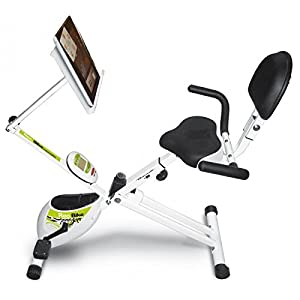 Tecnovita by BH REC BIKE YF93. 18lbs flywheel. You´re in control! Recumbent foldable bicycle. Ergonomic saddle with backrest. Folds easily. Includes wheels. White