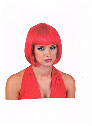 kurz Haar- Perücke rot für Motto Party Fasching -