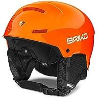 Briko Mammoth Casco Esquí, Unisex Adulto, Naranja (orange fluo), S 53-55 cm