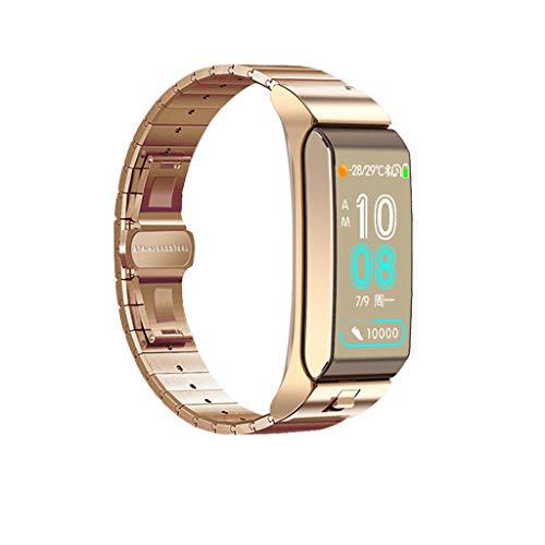 QinMM Fitness Tracker wasserdichte Uhr für Frauen Aktivität Schrittzähler Tracker mit Kalorienzähler, Schlafmonitor, Herzfrequenzmesser, Blutdruckmessgerät, Sitzende Erinnerung für Android iPhone -