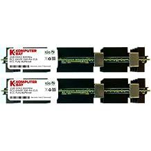 Komputerbay KB_4GB_2X2GB_800_FBDIMM_MAC_HS - Módulos de memoria de 4GB (2x 2GB) DDR2 PC2-6400F 800MHz ECC Búfer Completo 2Rx4 FB-DIMM (240 Pines) con disipadores de calor, para ordenadores Mac de Apple