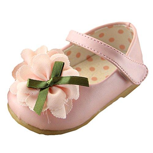 Scothen Chaussures princesse paragraphe Costume paillettes boucle ballerine Chaussures Carnaval de fête pour les enfants chaussures de ballerine fête chaussures fille boucle Christening partie Rose