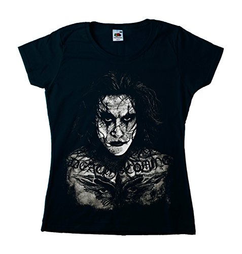 Brandon Crystal (The Crow Brandon Lee Girly tätowiert Damen T-Shirt XX-Large Schwarz)