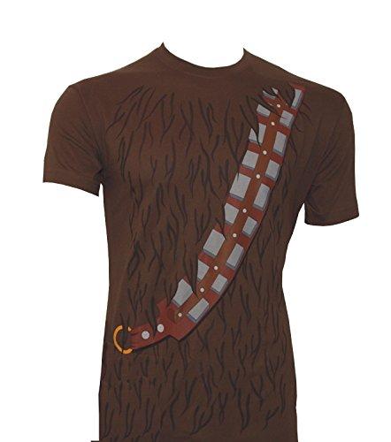 T-Shirt Star Wars Chewbacca mit Gurt, braun (M) (Chewbacca Kostüm Shirt)