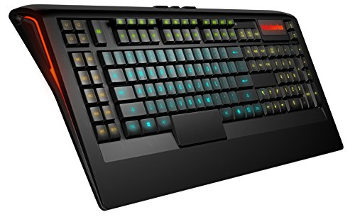 SteelSeries Apex 350, teclado de juego, iluminación RGB 5 zonas, 22 Teclas Macro, 2 hub USB, (PC / Mac) - Disposición US QWERTY