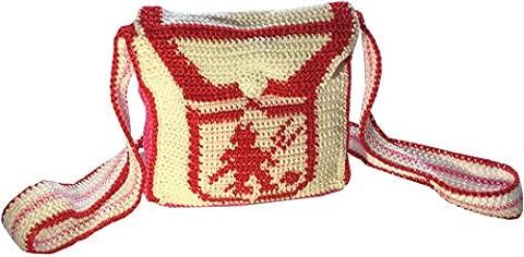 Wayuu Mochila , Sac pour femme à porter à l'épaule multicolore multicolore - rouge - Red Devil,