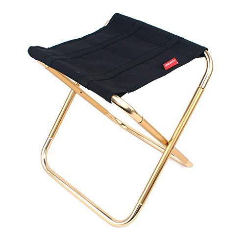 Kleiner Faltender Hocker im Freien, der leichten tragbaren Stuhl trägt, um Mini-Aluminium zu tragen, der robusten Hocker-Strand für Ereignisse im Freien/Reise / - Schwarz Klapp-gartenmöbel