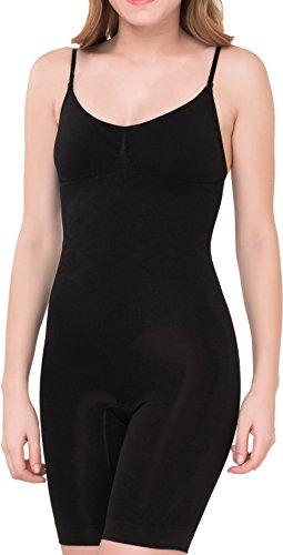 UnsichtBra Damen Shapewear Bauch Weg Bodysuit, Body Shape Bauchweg Unterwäsche mit Korsett - Funktion (sw_2200) (M (40-46), Schwarz)