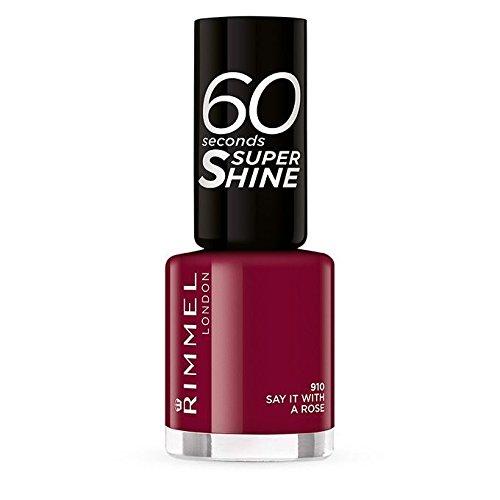 RIMMEL 60'' Super SHINE 910 say it ..Smalto Kosmetika -