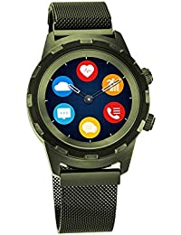 Titan Connected X Green Hybrid Smartwatch for Men with Heart Rate Monitor + Full touch Display + Interchangeable strap -90116QM01